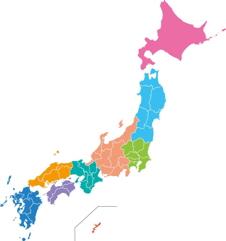 日本の地域区切り