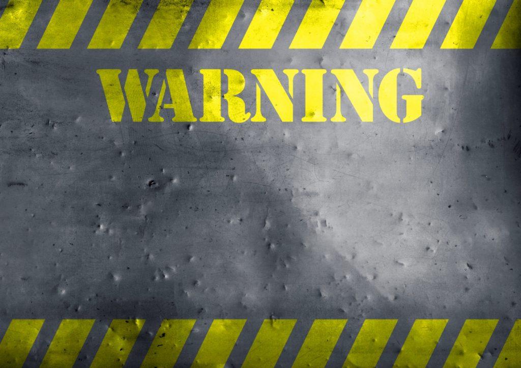 SEO対策における警告